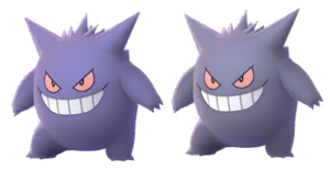 Normal Gengar (left) and Shiny Gengar (right)