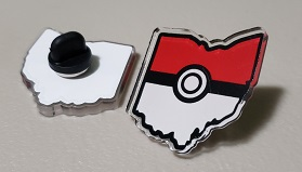 PoGo Ohio Acrylic pin